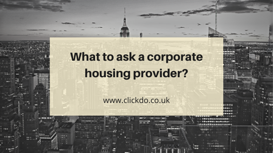 What to ask a corporate housing provider_