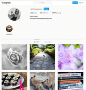 Petra's Instagram - Phtographer's Journey