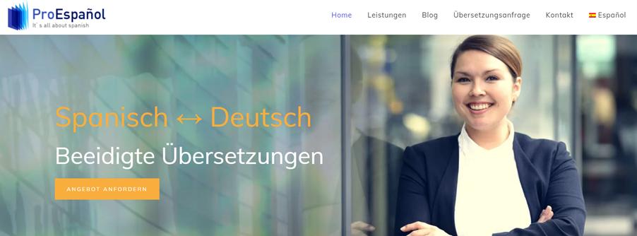 Translation-home-business-website-example