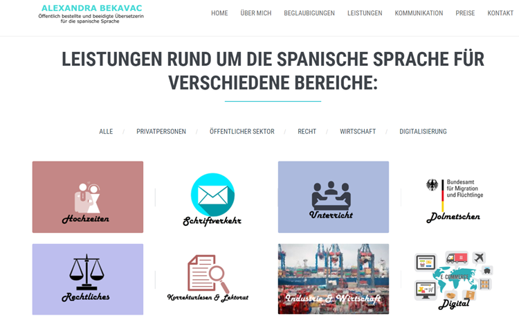 Freelance-translation-business-website-example