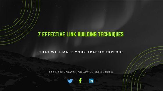 7 Effective Link Building Techniques