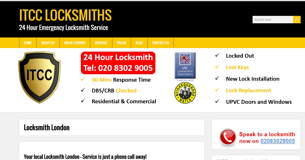 ITCC Locksmiths - 24 Hours Emergency Locksmiths