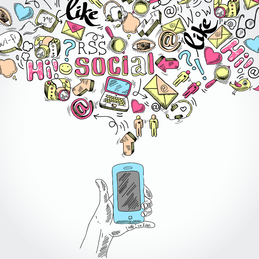 Mobile smartphone social media applications