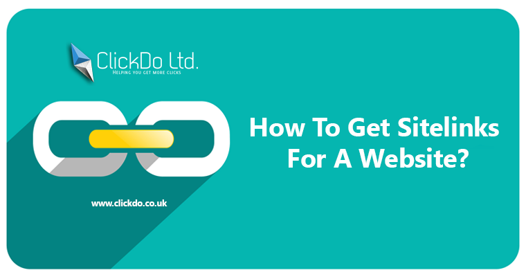 How to get Sitelinks for a website