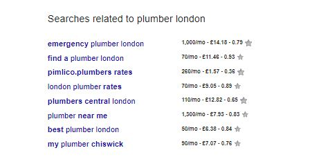 related searches for plumber london