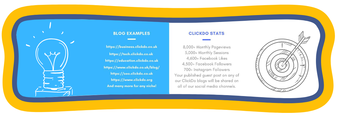 Blogs publishing guest posts, press releases, infographics, authorship profiles