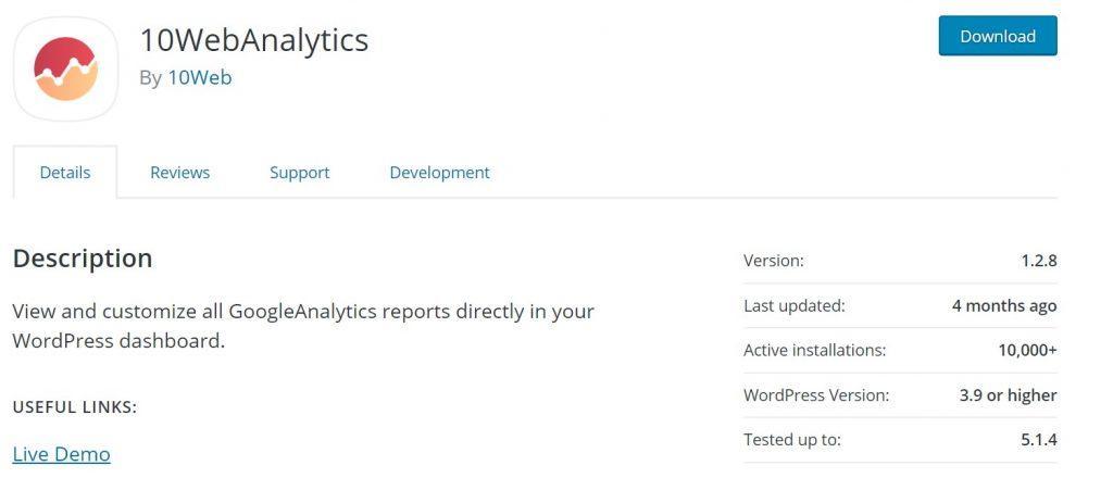 google analytics wd wordpress plugin