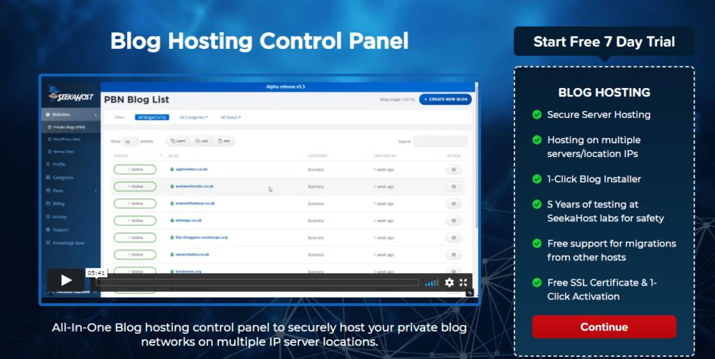 Blog-Hosting-Panel