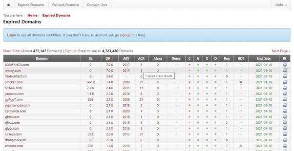 best expired domain finder
