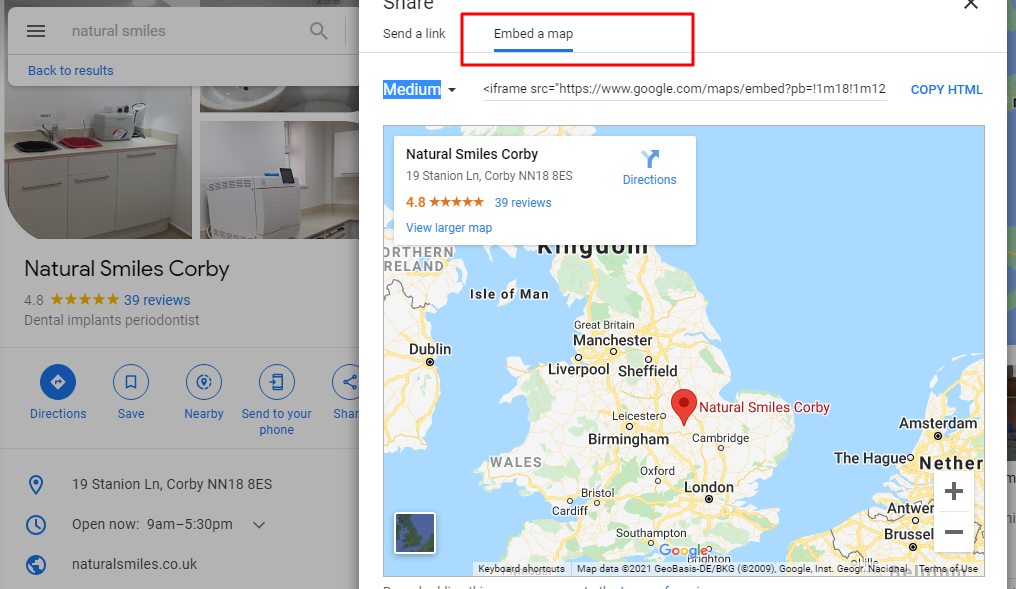 Embed a Map with your website