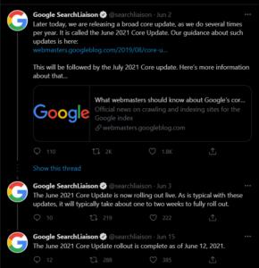 Google june update 2021