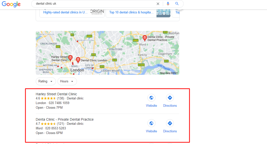 How to find business on Google Map listing