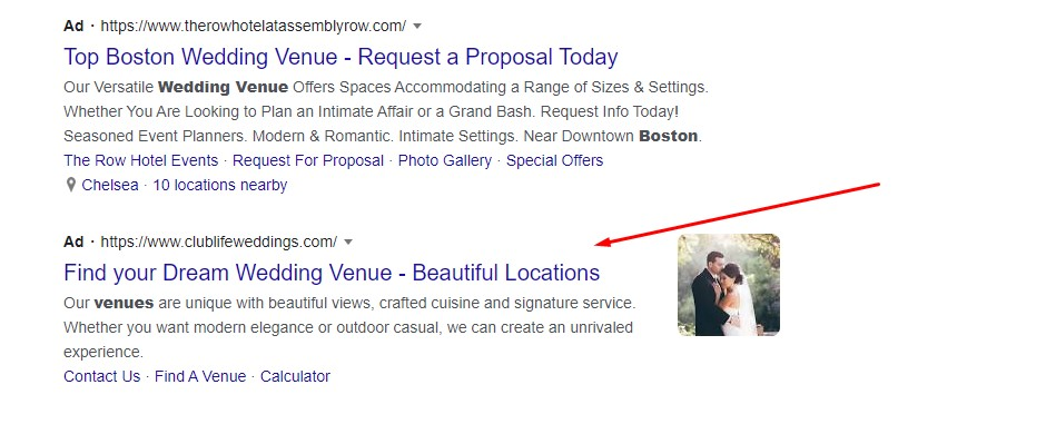 Image extensions in Google ads