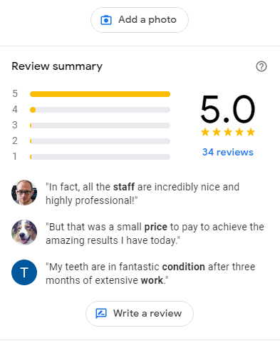 Manage reviews on Google Business Listings