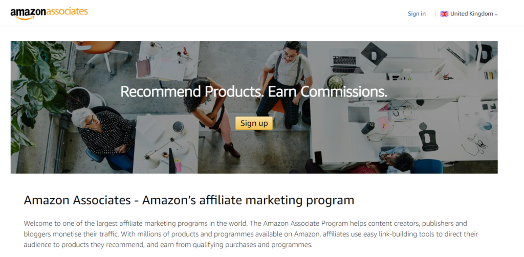 earn money from amazon affiliates