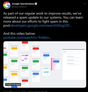 google spam update 2021