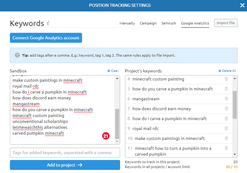 how to track keyword position for bloghow to track keyword position for blog